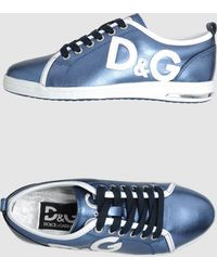 D&G Blue Trainers - Lyst