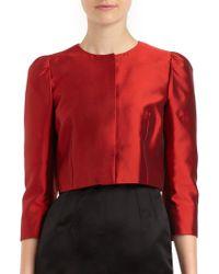 Dolce & Gabbana Silk Cropped Bolero Jacket - Lyst