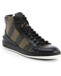 Fendi Pequin High-Top Sneakers - Lyst