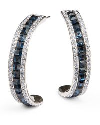 Judith Leiber - Twotone Sparkle Half Hoop Earrings15 Inches - Lyst