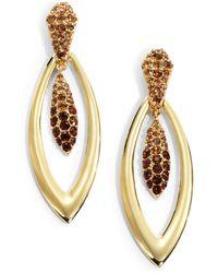 Judith Leiber - Pavã Crystal Torpedo Earrings - Lyst