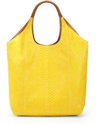 Nada Sawaya - Cherina Python Large Shoulder Bag - Lyst