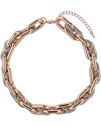 Topshop Fabric Entwined Chain Necklace - Lyst