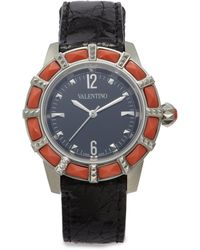 Valentino - Red Coral Stainless Steel Crocodile Watch - Lyst