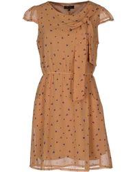 Cutie Brown Short Dress - Lyst