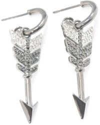 Jade Jagger - Black White Diamond Arrow Earrings - Lyst
