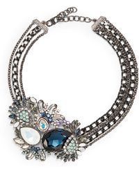 Judith Leiber | Multichain Jeweled Cluster Necklace | Lyst