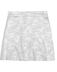 Lulu & Co Metallic Brocade Mini Skirt - Lyst