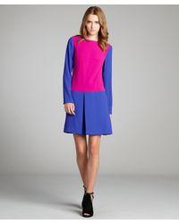 Rachel Roy Begonia And Regal Colorblock 'Triangle' Drop Waist Dress - Lyst