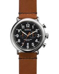 Shinola The Runwell Chronograph Tan Strap Watch, 47Mm - Lyst