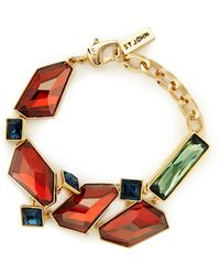 St. John - Faceted Swarovski Crystal Bracelet - Lyst