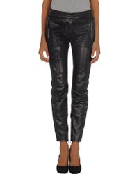 Valentino Leather Trousers - Lyst
