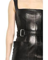 Alexander McQueen Soft Nappa Leather Dress - Lyst