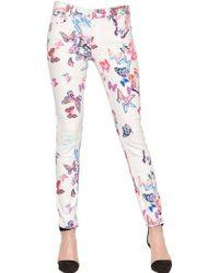 American Retro - Stretch Skinny Butterflies Denim Jeans - Lyst