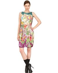 Antonio Marras Embroidered Stretch Cotton Viscose Dress - Lyst