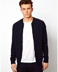 Asos Knitted Bomber Jacket - Lyst
