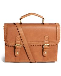 ASOS - Large Satchel Bag With Scallop Trim And Front Buckles - Lyst