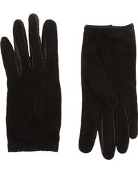 Barneys New York Suedeleather Driving Gloves - Lyst