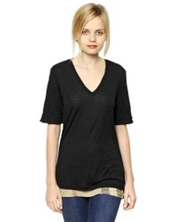 Burberry Brit - Modal Reversible T Shirt - Lyst