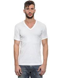 Dolce & Gabbana Cotton Jersey V Neck T-Shirt - Lyst
