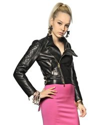 DSquared² Quilted Nappa Leather Biker Jacket - Lyst