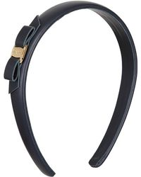 Ferragamo Logoed Leather Headband - Lyst