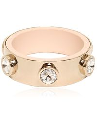 Givenchy Brass Plated Bracelet With Rhinestones - Lyst