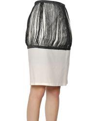 J.W. Anderson Silk & Cotton Twill Fringed Pencil Skirt - Lyst