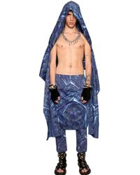 KTZ   Gate Print Cotton Hooded Scarf   Lyst