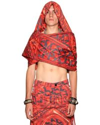 KTZ | Gate Print Cotton Hooded Scarf | Lyst