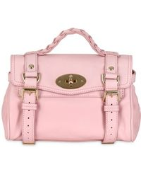 Mulberry - Mini Alexa Small Grained Leather Satchel - Lyst