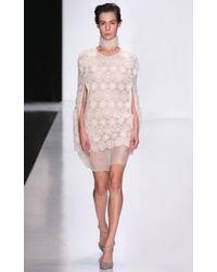 Ruban - Ivory Lace Cape Dress - Lyst