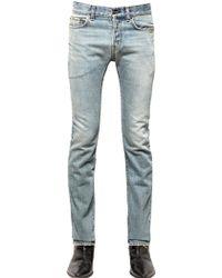 Saint Laurent 19Cm Straight Fit Stretch Denim Jeans - Lyst