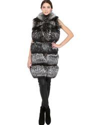 Vicedomini - Fox Fur Cashmere Vest - Lyst