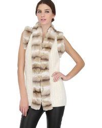Vicedomini - Rex Rabbit Fur Wool Vest - Lyst