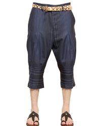 Vivienne Westwood Checked Wool Blend Crop Trousers - Lyst