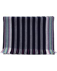 Browns Striped Wool Scarf - Lyst