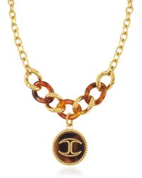 Just Cavalli - Nature Medallion Stainless Steel Women's Necklace - Lyst