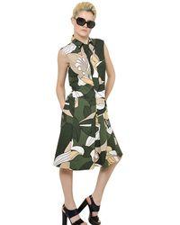 Marni Cotton Poplin Dress - Lyst
