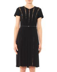 Max Mara Studio Black Filmato Dress - Lyst