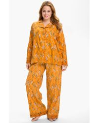 Munki Munki Print Flannel Pajamas - Lyst