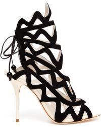 Sophia Webster Mila Suede Cutout Sandal Boots - Lyst