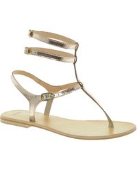 Asos Farringdon Leather Flat Sandals - Lyst