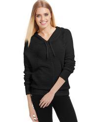 DKNY Longsleeve Hooded Sweater Pullover - Lyst