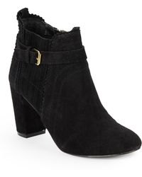 Dolce Vita Thora Suede Ankle Boots - Lyst