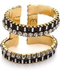 Erickson Beamon - Gold-Plated Swarovski Crystal Cuff - Lyst