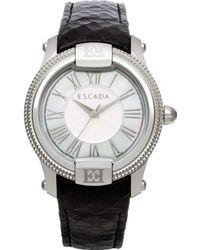 ESCADA Women'S Swiss Madelene Black Leather Strap Watch 38Mm Iww-E3330031 - Lyst