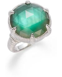 Judith Ripka Green Rosecut Doublet Ring - Lyst