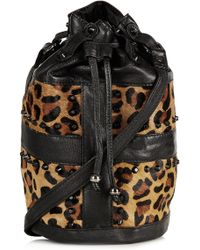 Topshop Leopard Print Crossbody Bag - Lyst