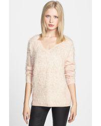 Trouvé Embellished Textured V-Neck Sweater - Lyst